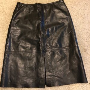Gently used Banana Republic Leather Skirt size 10